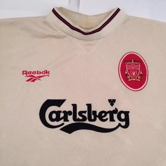 221ddc37129 Carlsberg Liverpool Football Reebok Jersey Sz XL. M 5ae7acf2331627a24192b9f3